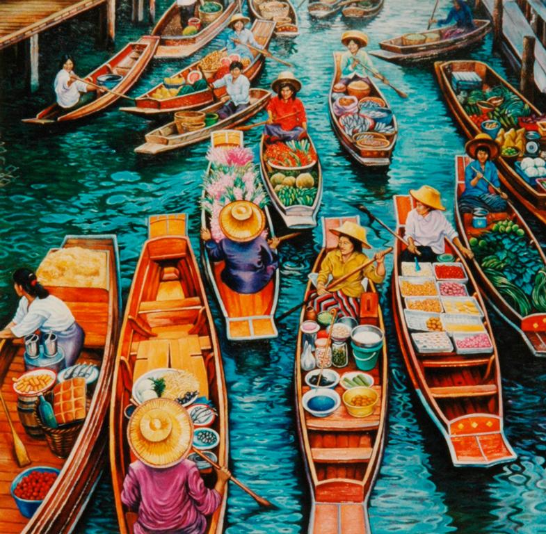 Mercato sul fiume